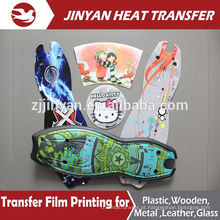 film heat transfer print for plastic skateboard