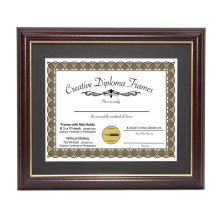 11x14'' High Quality Custom Certificate Document Diploma Wood Picture Photo Frame with Gold Rim