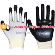 NMSAFETY garden picking use 13g nylon with nitrile palm working gloves