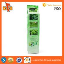 УЛХ одобрил изготовленную на заказ печать китайской стороны gusset пустой зеленый чай сумка упаковка