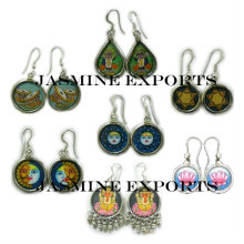 Indian Hand Painted Earrings