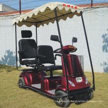 Мобильные электрические скутеры с двумя сиденьями и крышей (DL24800-4)