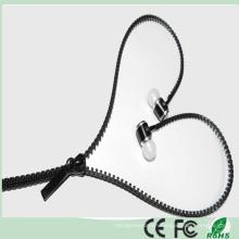 3.5mm Tangle Free Stereo Zipper Earphone Earbuds (K-916)