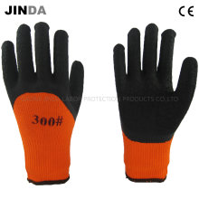 Terry Yarn Liner Latex Crinkle Coated Industrial Safety Working Gloves (LH701)