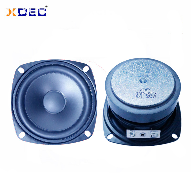 3 inch good price 78mm rubber edge 8ohm 20w midbass speaker