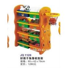 no-toxic kids plastic corner storage shelf
