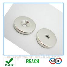 big round countersunk neodymium magnet d30x10