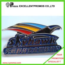 Insignia de metal grabada a color personalizada promocional