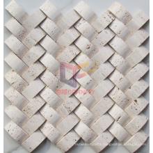Beige Travertine Stone Marble Mosaic (CFS932)