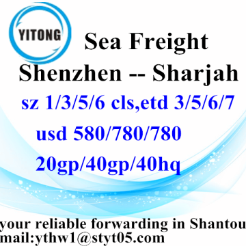 Shenzhen Global Freight Forwarding por mar a Sharjah