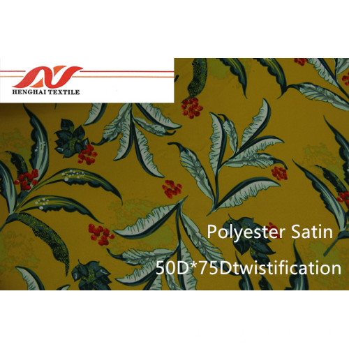 Polyester Satin 50 * 75D Twistification / 75D * 75D