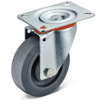 Σειρά 13 TPR Flat Bottom Movable Casters