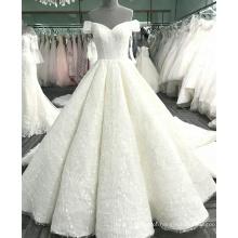 Sexy fora do ombro champanhe mulheres vestido de noiva 2017 luxo WT365