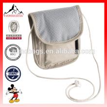 Паспорт дорожная Сумка ожерелье скрытые безопасности бумажник мешок денег ремень сумка(с esx-LB209)