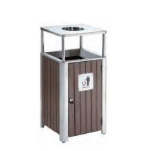 Reciclaje de un cubo de basura / cubo de basura de madera (DL 112)