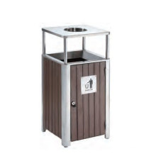 Recycling Wood Dustbin/Garbage Can (DL 112)