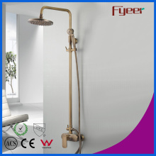Fyeer exposto a casa de banho Antique Antique Brass Shower Shower Set