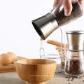 ensemble de broyeur manuel de moulin à sel et à poivre de pot en verre