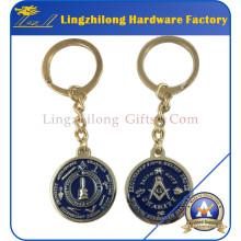 Masonic Logo Design Promocional Metal Keyring