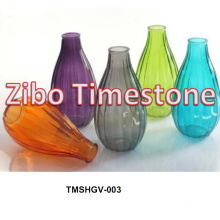 Hot Sale Colored Cheap Glass Flower Vases