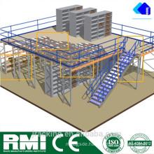 Mental Adjustable Storage Pallet Rack Supported Steel Mezzanine Floor
