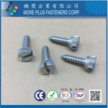 Fabriqué en acier inoxydable en acier inoxydable 18-8 SS M12 Passivated Slotted Drive Screw Knurled Thumb