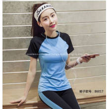 Yoga Short Sleeve and Ninth Pants Suit
