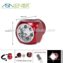 Aluminio 6 LED Luz Llavero
