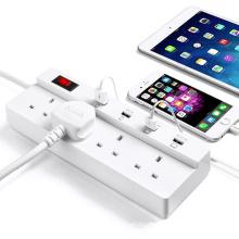 4 Ports Smart USB Power Strip Charger 4 UK AC Steckdosenverlängerung Steckdosenstecker