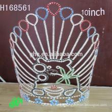 .New Designs Cheap Rhinestone Crown custom pageant crowns& tiara