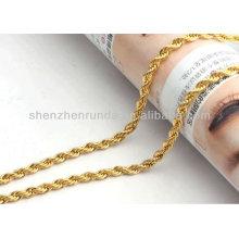 Colares do naruto da jóia da colar do ouro da forma do aço inoxidável 316L