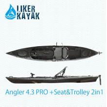 Fishing Plastic Boats 4.3m Comprimento para novato e amante de Fisher