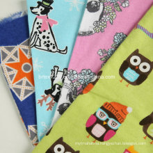 100%Cotton Flannel Fabric for Pajamas with Cartoon Printed (C20X10/40X42)