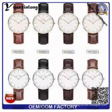 Cuero italiano de calidad Movt Japón moda YXL-654 correas relojes
