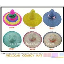Chapéu mexicano de sombrero ambre