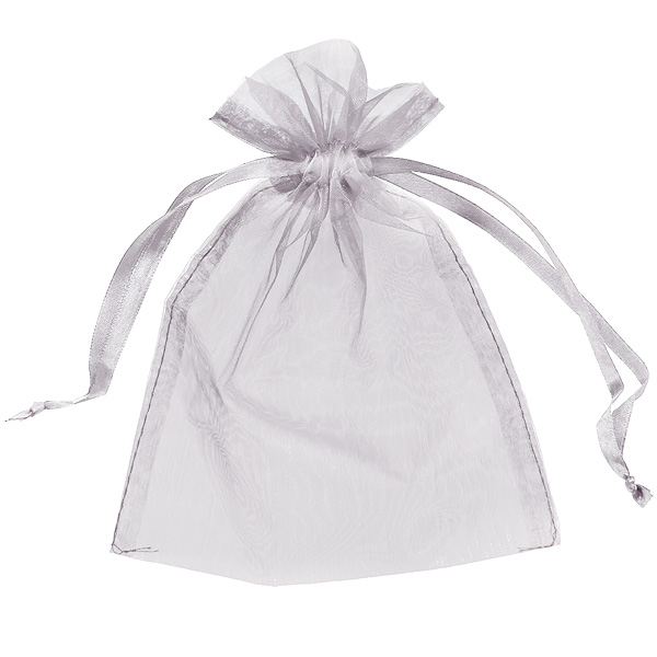 organza bag with flower satin ribbon
