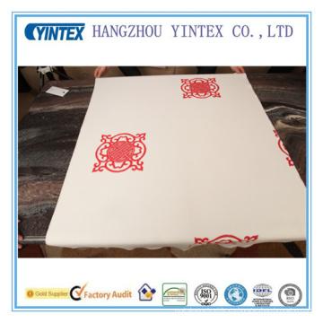 Tejido de poliéster de patrón de nudo chino para colchón