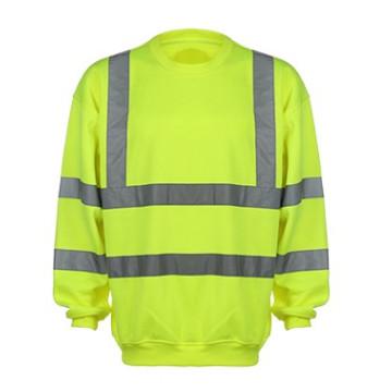 Hivis Reflective Sweatshirt 100% Polyester Fleece
