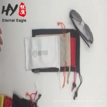 Venda quente linho bolsa de cordão de jóias com logotipo made in China