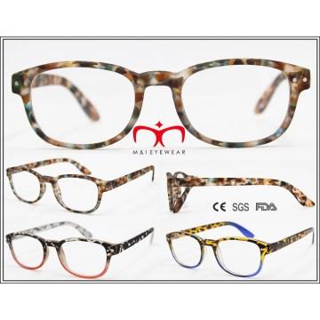 Nueva goma de plástico de moda acabado lentes de lectura (wrp604570)