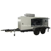 Générateur diesel mobile à roue tractée 180kw avec moteur Perkins