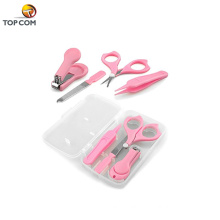 4 pcs for Infant Toddler and Kids Plastic case Baby Care Grooming kit Nail Clipper Set