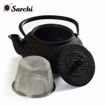Cast Iron Tea Pot Set With Trivet and Cups Set