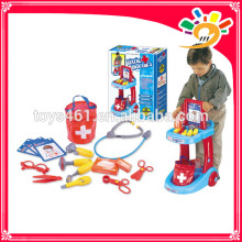 Kids Funny Pretend Play Set Doctor Cart Plastic Medical Toys