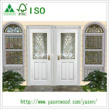 Customized Fashionable White Entrance Wooden Door