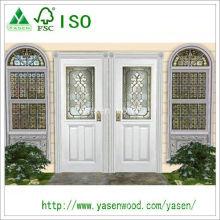 Porta de madeira da entrada branca elegante personalizada