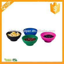 Reutilizable multi-función personalizado de silicona Mini Food Bowl