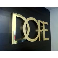 Le miroir de lettre de signes faits sur commande en métal a fini (ID-14)