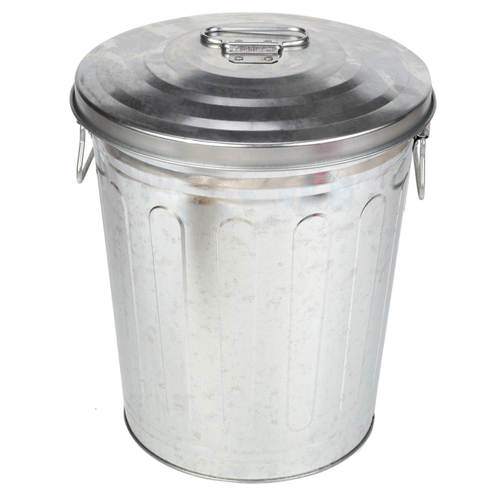 Silver Household Trash Can Set