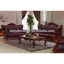 Antique American style sofa 1+2+3 with coffee table A691